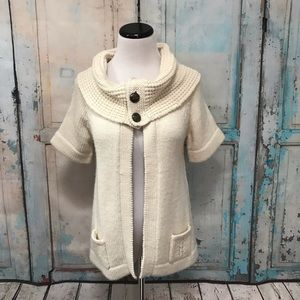 Anthropologie Design History Cowl Neck Cardigan